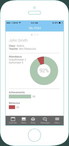 mySchoolApp My Child – school app features