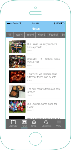 mySchoolApp News – school app features