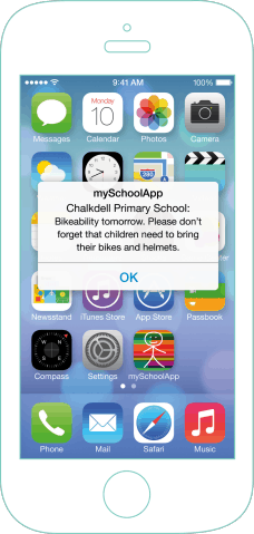 mySchoolApp Push Notifications – school app features